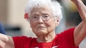 103세로 달리기에서 우승<br>체육대회를 뒤집어 놓은 할머니
